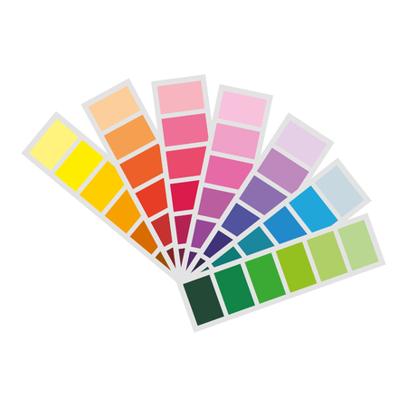 designer color swatches drawing tool vector illustration