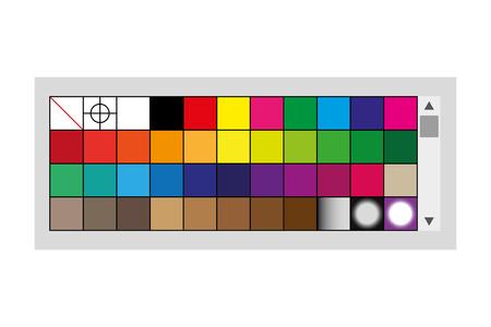 design draw menu palette color tool vector illustration