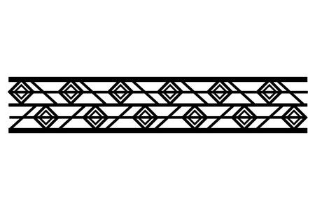 victorian line border style vector illustration design Banco de Imagens - 101384348