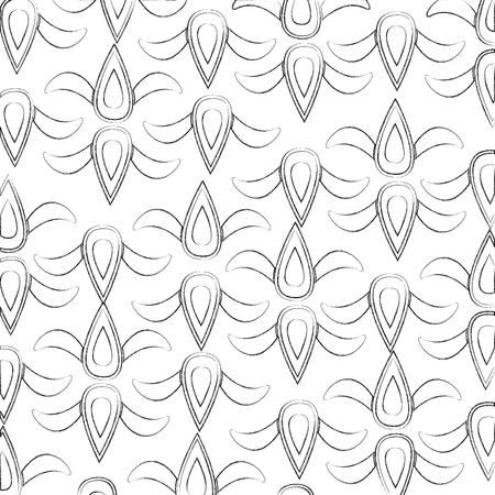 art deco pattern flourish ornament crest decorative sktech