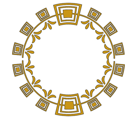 art deco frame vintage ornament abstract motif Stock fotó - 101385020
