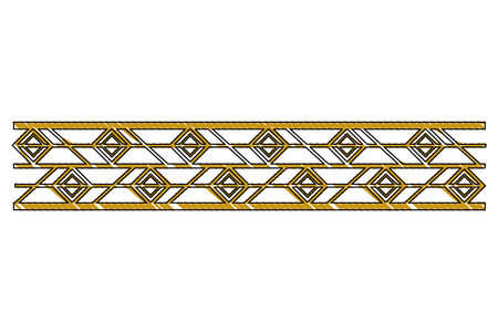 victorian line border style vector illustration design Reklamní fotografie - 101399362