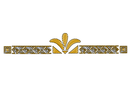 victorian line border style vector illustration design 版權商用圖片 - 101399368