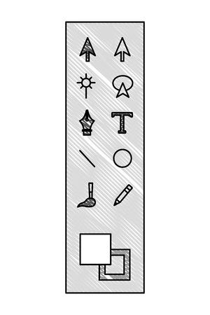 graphic design tools panel vector illustration design Archivio Fotografico - 101400960