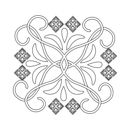 decorative swirl luxury flourishes art deco style vector illustration