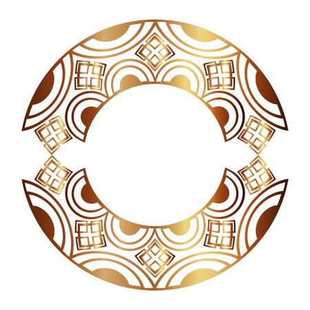art deco frame vintage ornament abstract motif