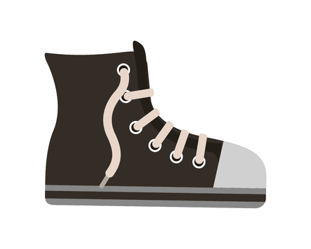 young shoe tennis style vector illustration design