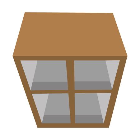 keuken lade houten en glas vector illustratie ontwerp Vector Illustratie
