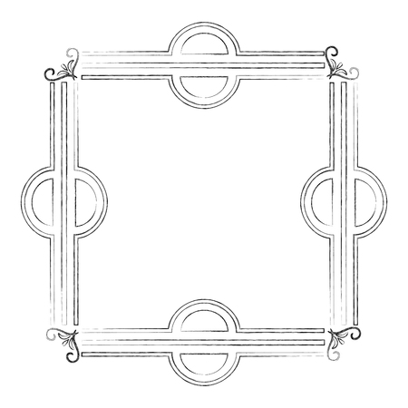 square victorian frame isolated icon vector illustration design Standard-Bild - 101401266