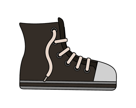 sport boot hipster footwear casual cartoon vector illustration Stock Illustratie