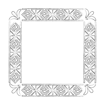 square victorian frame isolated icon vector illustration design 일러스트