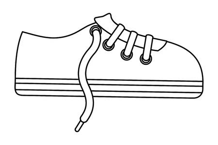 sport shoe sneaker laces cartoon vector illustration Çizim