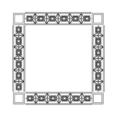 art deco frame elegant decorative square style vector illustration Çizim