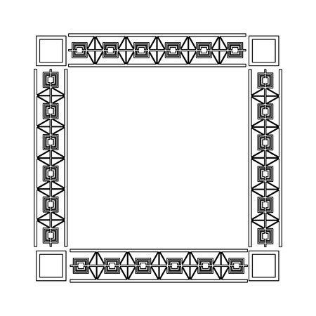 art deco frame elegant decorative square style vector illustration Illustration