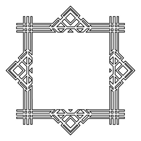 vintage geometric shape art deco retro frame vector illustration