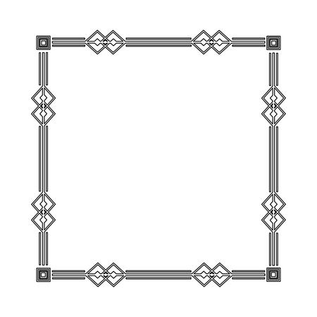 art deco frame elegant decorative square style vector illustration Illustration