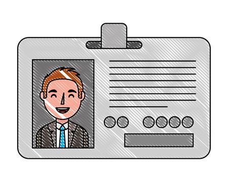 corporate id card employee photo vector illustration vector illustration