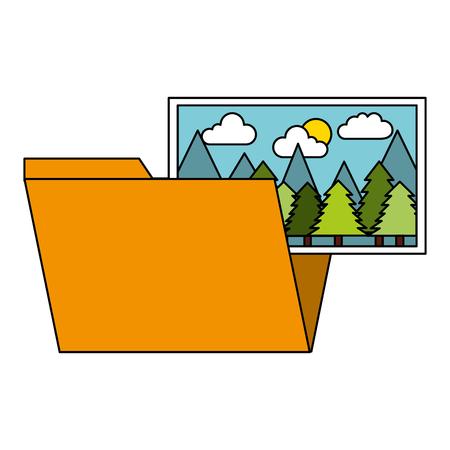 folder file picture gallery album vector illustration Illustration