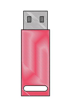 usb backup data memory image vector illustration vector illustration 向量圖像