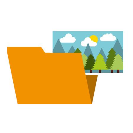 folder file picture gallery album vector illustration Иллюстрация