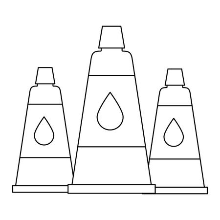 set bottles glue isolated icon vector illustration design
