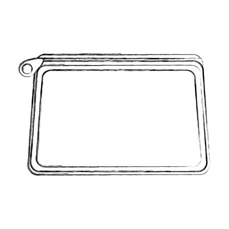 Étui à crayons icône isolé vector illustration design