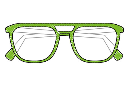 eyeglasses optic protection accessory image vector illustration vector illustration