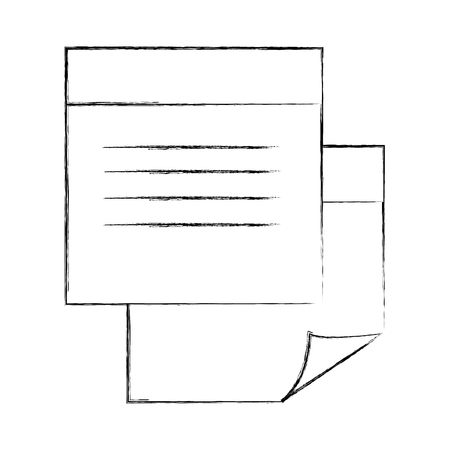paper notes isolated icon vector illustration design Illustration