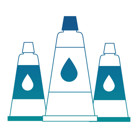 set bottles glue isolated icon vector illustration design