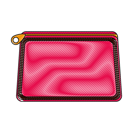cosmetic makeup purse accessory female vector illustration