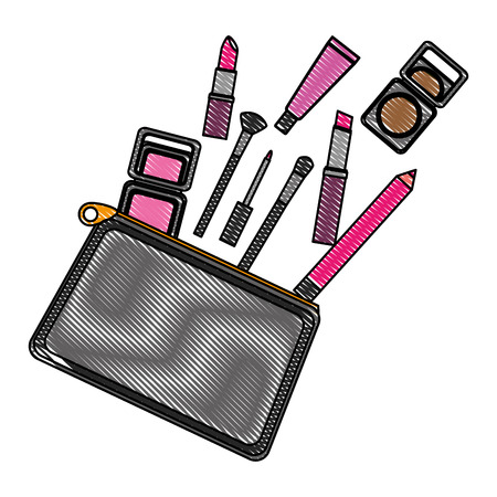 cosmetic makeup products fashion set vector illustration vector illustration drawing Illustration
