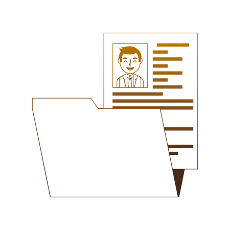 folder resume curriculum male worker vector illustration degrade color Stockfoto - 101407052