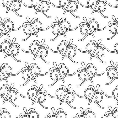 decorative swirl luxury golden filigree pattern vector illustration Çizim
