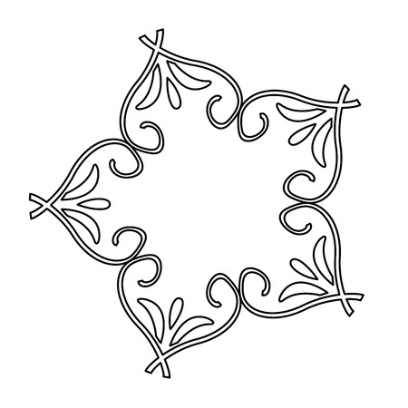 beauty scroll antique ornament style vector illustration