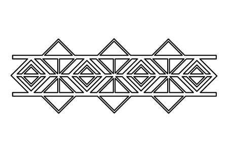 border ornate vignette decoration vintage vector illustration Illustration