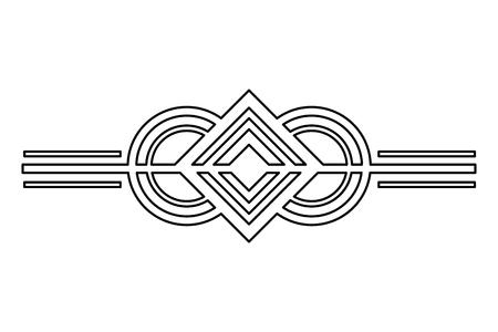 Frontera viñeta ornamentada decoración vintage ilustración vectorial