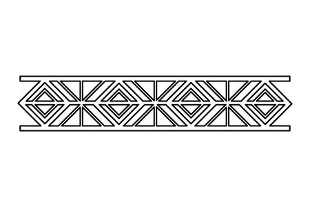 border ornate vignette decoration vintage vector illustration Stock Illustratie