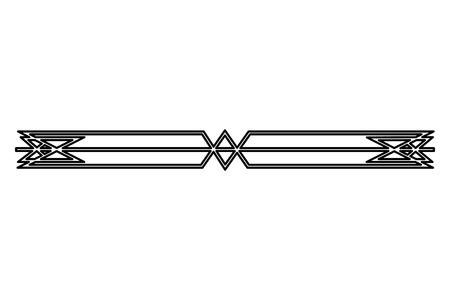 border ornate vignette decoration vintage vector illustration  イラスト・ベクター素材