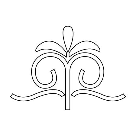 decorative swirl luxury flourishes linear vector illustration