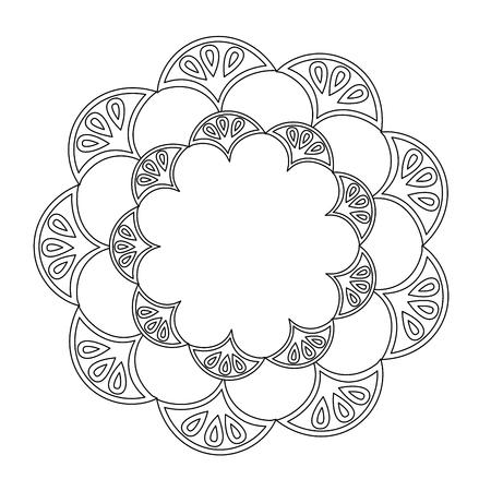 art deco frame vintage ornament abstract motif vector illustration