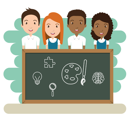 students in the classroom characters vector illustration design Illustration