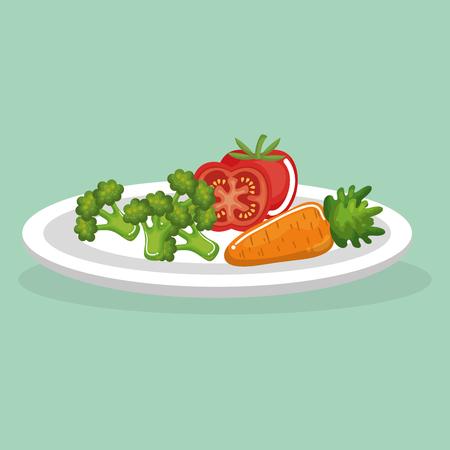 vegetables delicious food breakfast menu vector illustration design 일러스트