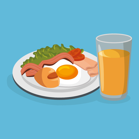 delicious food breakfast menu vector illustration design