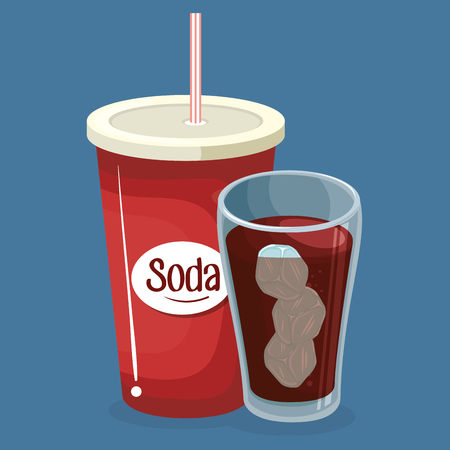 soda cups drink icons vector illustration design 向量圖像