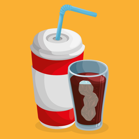 soda cups drink icons vector illustration design Stockfoto - 101443306