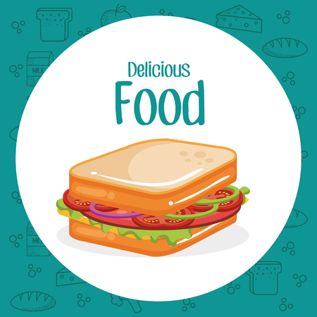 sandwich fast food menu vector illustration design Ilustrace