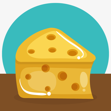 cheese piece healthy food vector illustration design Ilustração