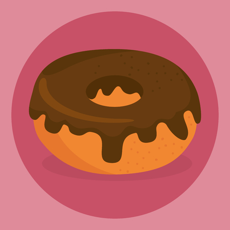 delicious sweet donut icon vector illustration design Stock Vector - 101444771
