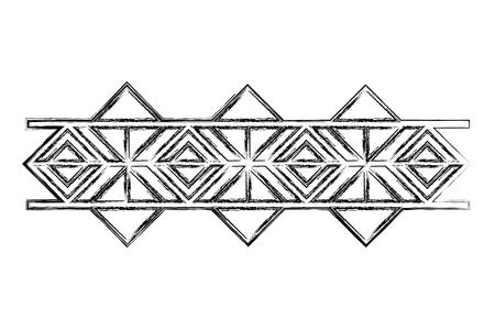 victorian line border style vector illustration design