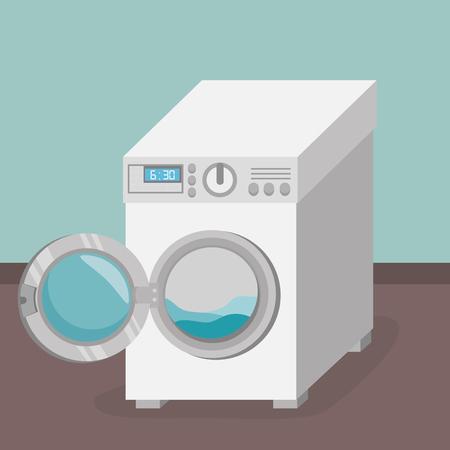 wash machine laundry service vector illustration design Illustration